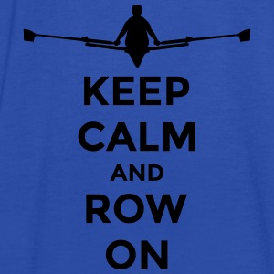 keep calm and row on rudern Verein rowing Boot Bluzy - Tank top damski Bella