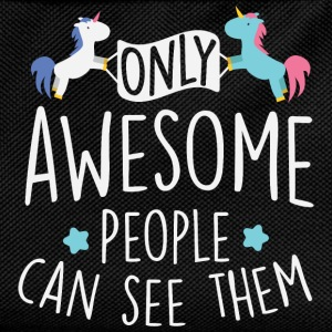 Unicorns: only awesome people can see them T-Shirts - Kids' Backpack