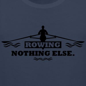rowing nothing else Rudern Skull Boot Skiff Koszulki - Tank top męski Premium