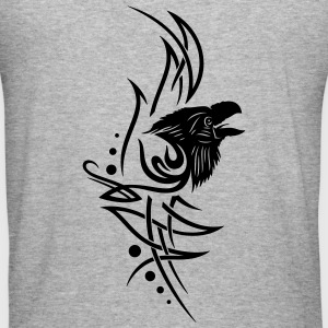 Tribal, tattoo with raven head. - Men's Slim Fit T-Shirt