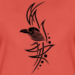 Tribal, tattoo with crows head. - Women's Premium T-Shirt