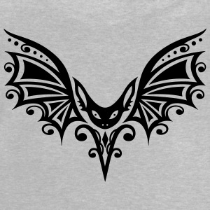Vleermuis, Tribal en Tattoo Design. Halloween Shirts met lange mouwen - Baby T-shirt