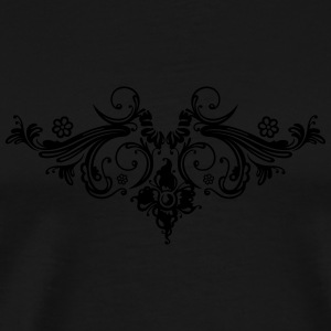 Filigree flowers and baroque ornament. - Men's Premium T-Shirt