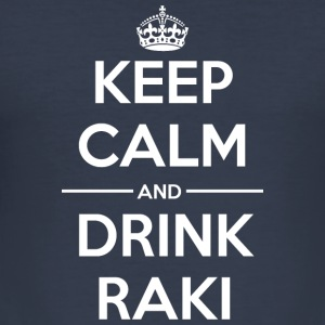 Drinks Keep calm Raki Hoodies & Sweatshirts - Men's Slim Fit T-Shirt