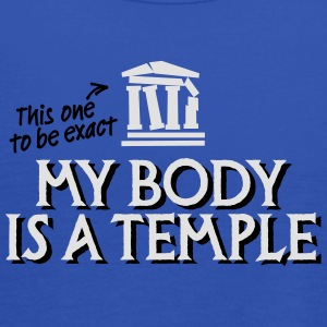 My body is a temple 2c Tee shirts - Débardeur Femme marque Bella