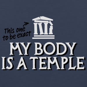 My body is a temple 2c Magliette - Canotta premium da uomo