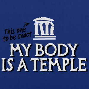 My body is a temple 2c T-shirts - Tas van stof
