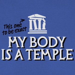 My body is a temple 2c T-shirts - Mannen sweater