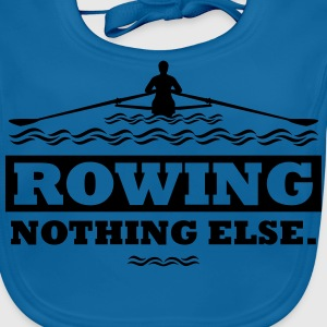 rowing nothing else Rudern Skull Boot Skiff T-shirts - Baby økologisk hagesmæk