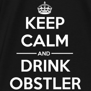 Drinks Keep calm Obstler Bags & Backpacks - Men's Premium T-Shirt