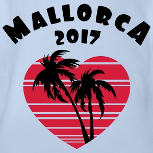 Mallorca 2017 Palm Heart T-Shirts - Baby Bio-Kurzarm-Body