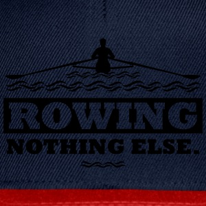 rowing nothing else Rudern Skull Boot Skiff T-Shirts - Snapback Cap