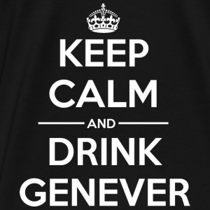 Drinks Keep calm Genever  Bags & Backpacks - Men's Premium T-Shirt