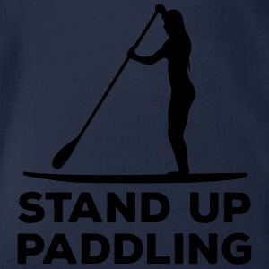 Standing paddler SUP Paddle Sports water sports summer Shirts - Organic Short-sleeved Baby Bodysuit