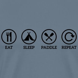 eat sleep paddle paddling Canoe Kayak repeat saying Tops - Men's Premium T-Shirt