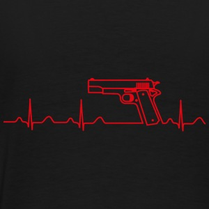 Jacke, Colt Pistole Government, Heartbeat Design - Männer Premium T-Shirt