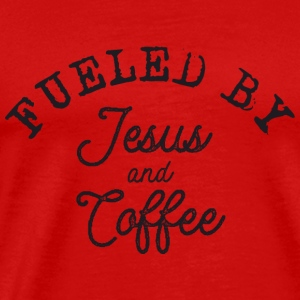 Fueled by Jesus and Coffee Sportbekleidung - Männer Premium T-Shirt