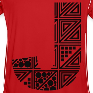 Rood letter J Kinder sweaters - Mannen voetbal shirt
