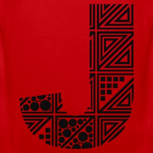 Rood letter J Kinder sweaters - Mannen Premium tank top
