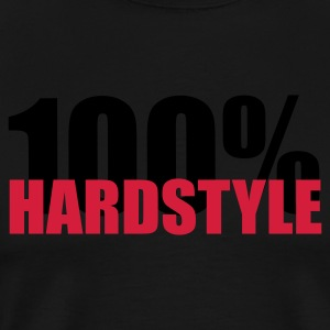 100% Hardstyle EDM Quote Sports wear - Men's Premium T-Shirt