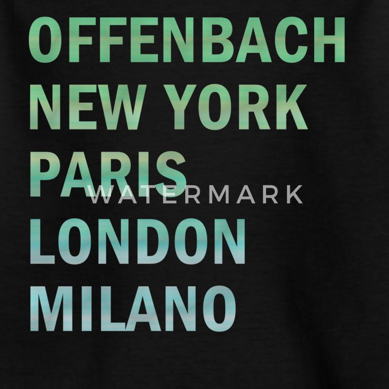 Metropole Offenbach T-Shirts - Teenager T-Shirt