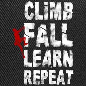 Climb fall learn repeat Tee shirts - Casquette snapback