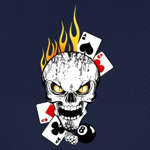 Poker Skull Flaming Sweat-shirts - Casquette classique