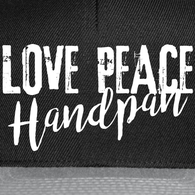 LOVE PEACE Handpan white
