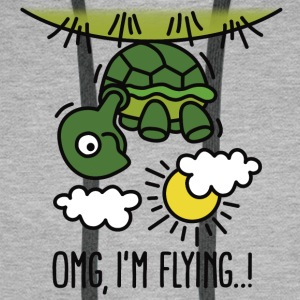 OMG, I'm flying! T-Shirts - Men's Premium Hoodie