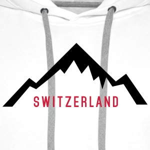 Switzerland Alps T-Shirts - Men's Premium Hoodie
