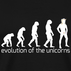 evolution of the unicorns Sportbekleidung - Männer Premium T-Shirt