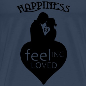 Happiness is - feeling loved Sportbekleidung - Männer Premium T-Shirt