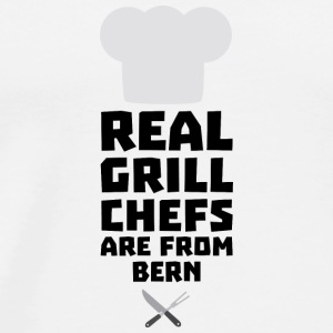 Real Grill Chefs are from Bern S2utk Long Sleeve Shirts - Men's Premium T-Shirt