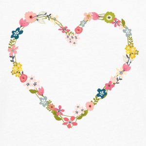 flower_power_heart Badges - T-shirt manches longues Premium Homme