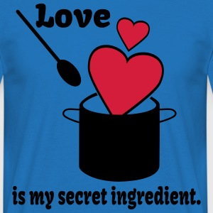 Love Cooking Saying  Aprons - Men's T-Shirt
