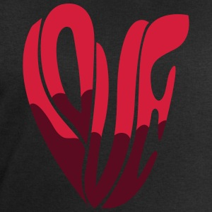 Heart Love Typo T-Shirts - Men's Sweatshirt by Stanley & Stella