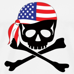 White American Pirate Caps & Hats - Men's Premium T-Shirt