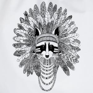 Heather grey Indian Raccoon T-Shirts - Drawstring Bag