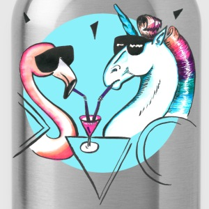 Cool flamingo and unicorn T-Shirts - Water Bottle