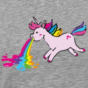 Einhorn kotzend / puking unicorn Sports wear - Men's Premium T-Shirt
