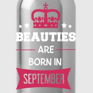 Beauties are born in September Långärmade T-shirts - Vattenflaska