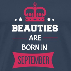 Beauties are born in September Manches longues - T-shirt Premium Homme