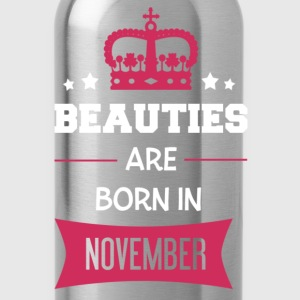 Beauties are born in November T-shirts - Vattenflaska