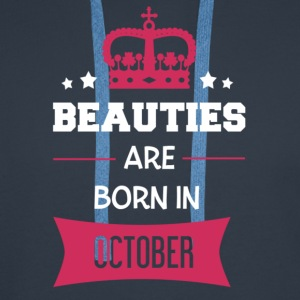 Beauties are born in October T-Shirts - Men's Premium Hoodie