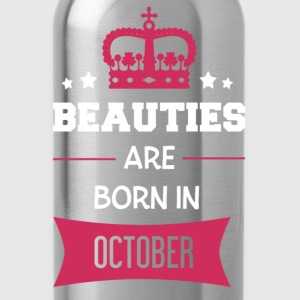 Beauties are born in October T-shirts - Vattenflaska