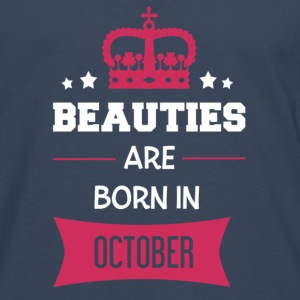 Beauties are born in October T-Shirts - Men's Premium Longsleeve Shirt