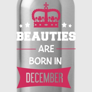 Beauties are born in December Baby Bodysuits - Water Bottle