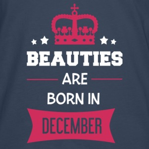 Beauties are born in December Baby body - Mannen Premium shirt met lange mouwen