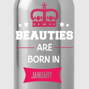 Beauties are born in January T-shirts - Vattenflaska