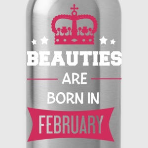 Beauties are born in February T-shirts - Vattenflaska